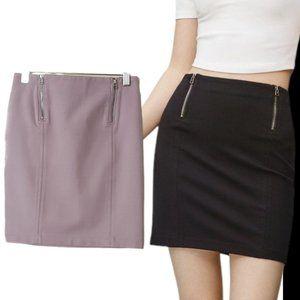 Aritzia Sunday Best Mitford Bodycon Zip Mini Skirt